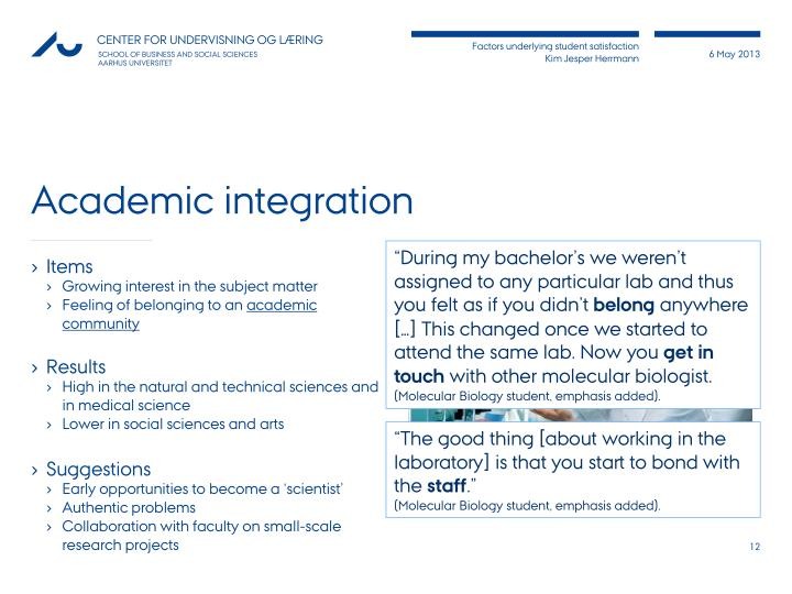 Academic integration