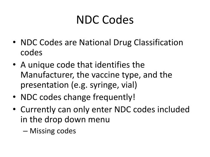 NDC Codes