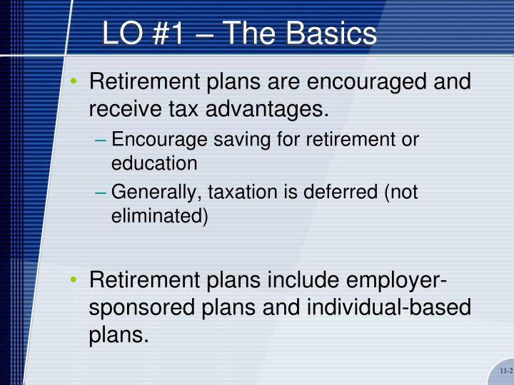 LO #1 – The Basics