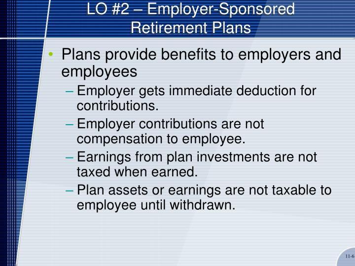 LO #2 – Employer-Sponsored Retirement Plans
