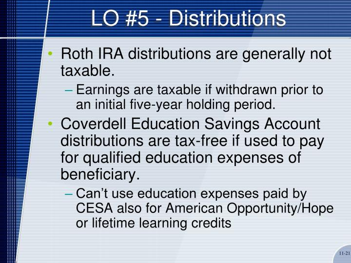 LO #5 - Distributions
