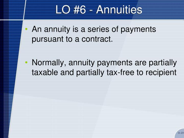 LO #6 - Annuities