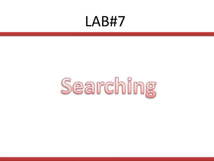 LAB#7