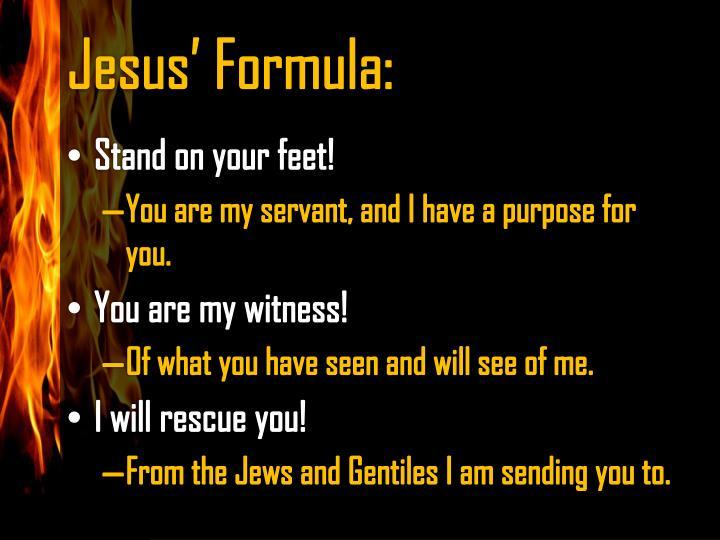 Jesus' Formula: