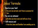 jesus formula