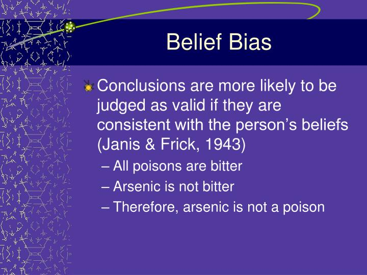 Belief Bias