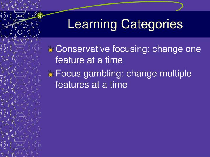 Learning Categories