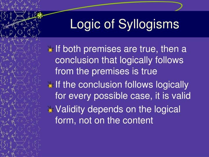 Logic of Syllogisms