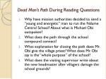 dead man s path during reading questions