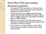 dead man s path post reading discussion questions