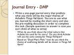 journal entry dmp
