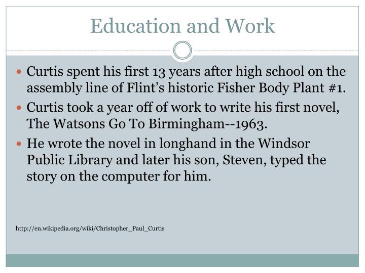 Education and work