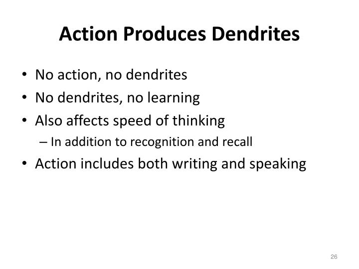 Action Produces Dendrites