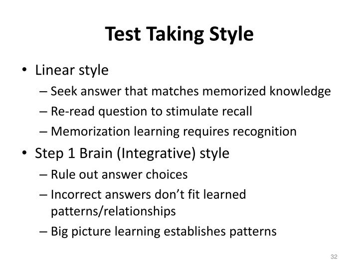 Test Taking Style