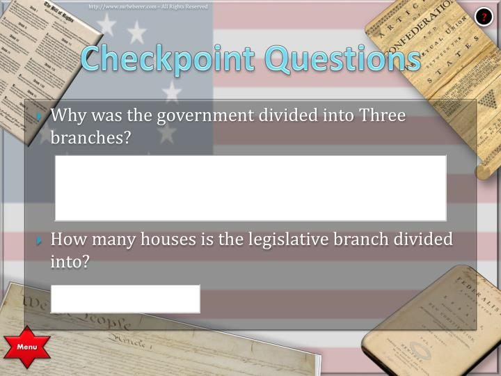 Checkpoint Questions