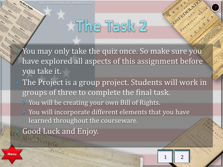 The Task 2