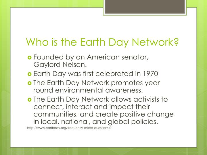 Who is the earth day network
