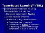 team based learning tbl