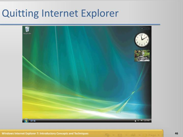Quitting Internet Explorer