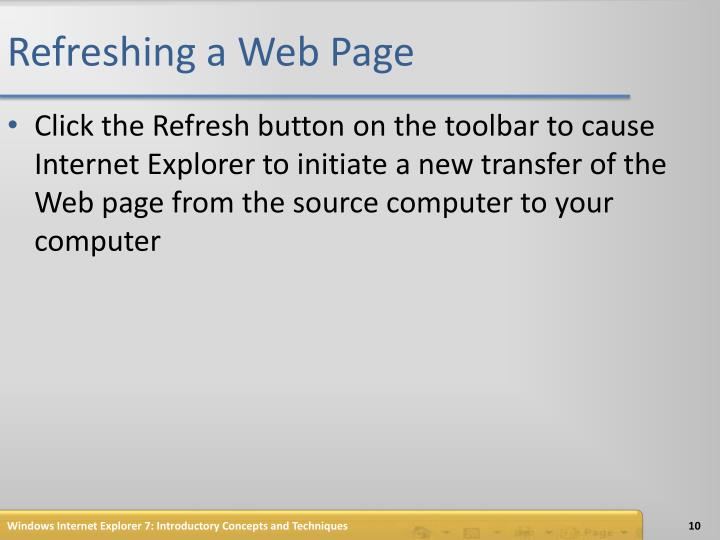 Refreshing a Web Page