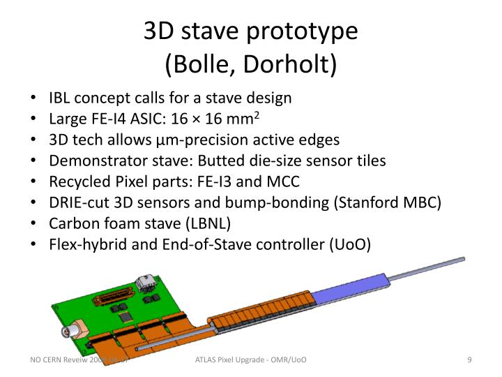 3D stave prototype