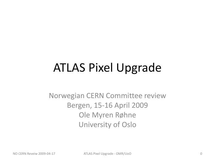 Atlas pixel upgrade