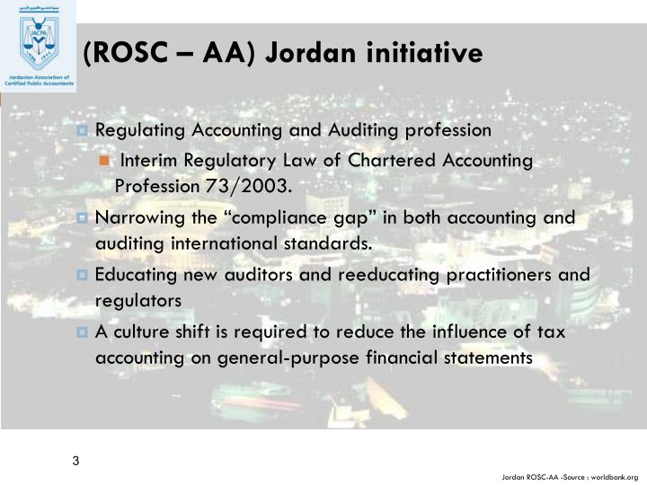 (ROSC – AA) Jordan initiative