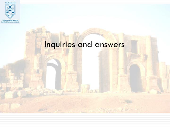 Inquiries