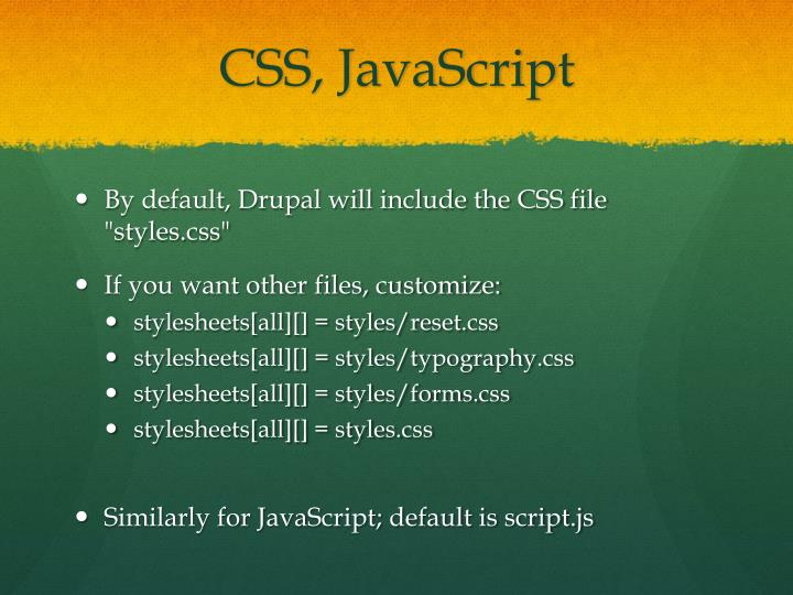 CSS, JavaScript