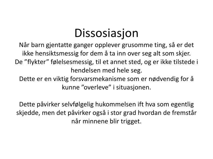 Dissosiasjon