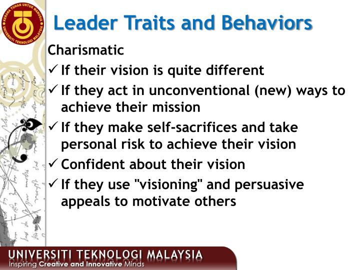 Leader Traits and Behaviors