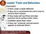 leader traits and behaviors