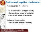 positive and negative charismatics