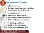 psychodynamic processes