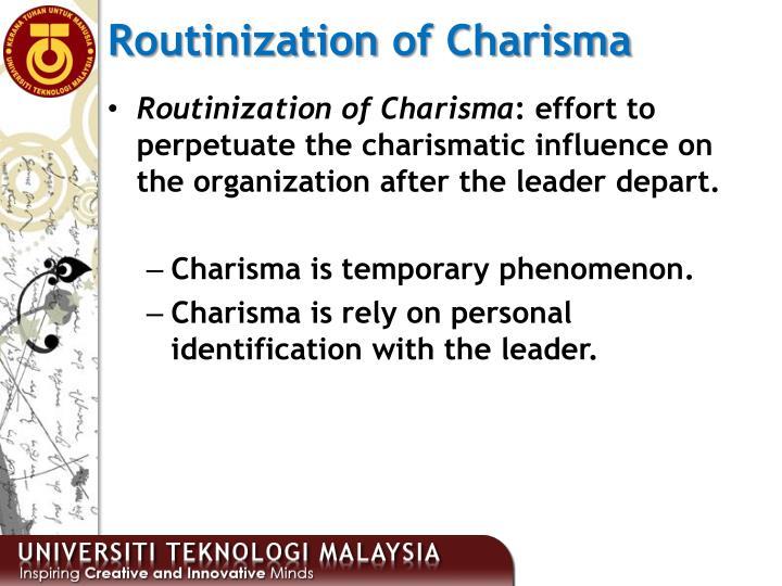 Routinization