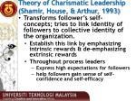 theory of charismatic leadership shamir house arthur 1993
