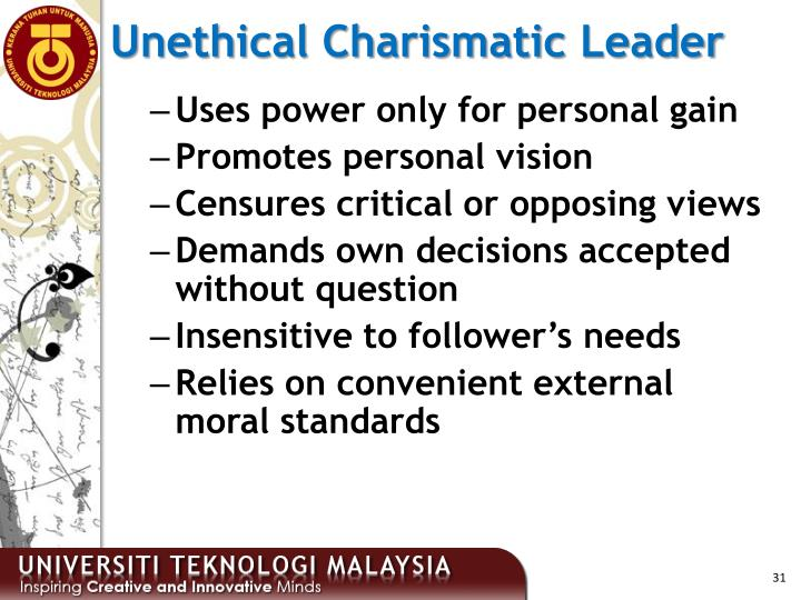 Unethical Charismatic