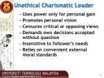 unethical charismatic leader