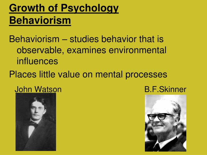 Growth of Psychology