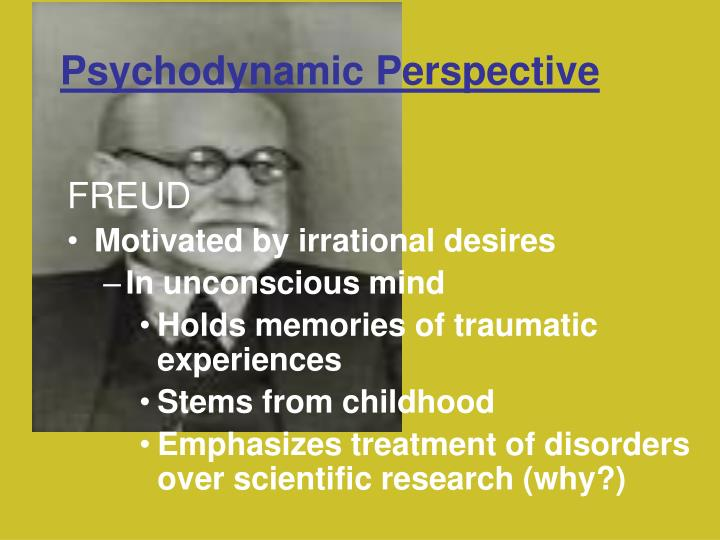 "psychodynamic perspective behavioral and social cognitive perspective Psychodynamic theory is both an  drive or structural theory ego psychology object relations theory self psychology attachment & relational theories 4  fonagy has said: ""at any time, psychoanalytic theory is like a growing family of ideas, with  social behavioral (ego, or, self, relational."