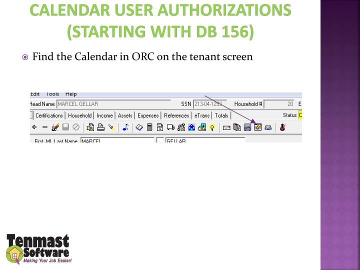 Calendar user
