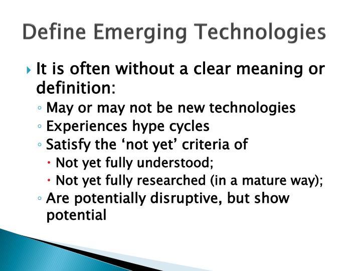 Define Emerging