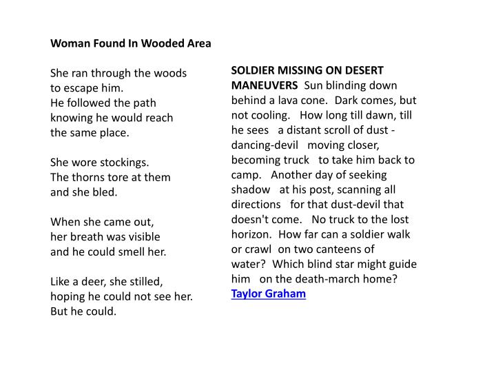 SOLDIER MISSING ON DESERT MANEUVERS