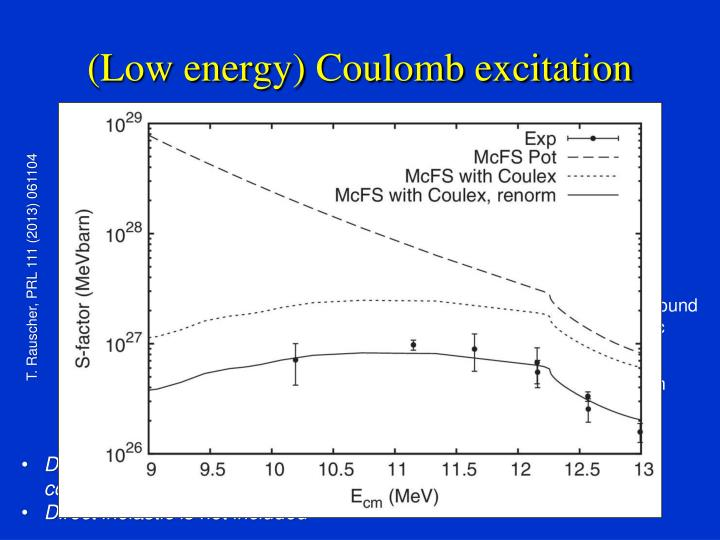 (Low energy) Coulomb excitation