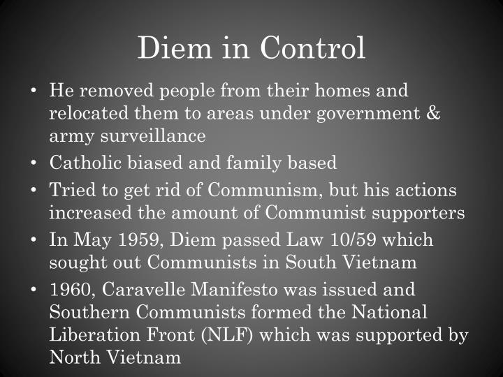 Diem in Control