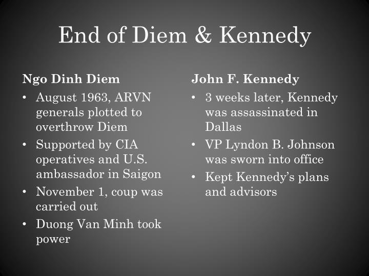 End of Diem & Kennedy