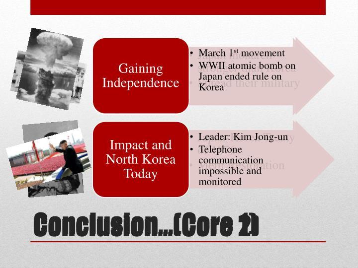 Conclusion…(Core 1)