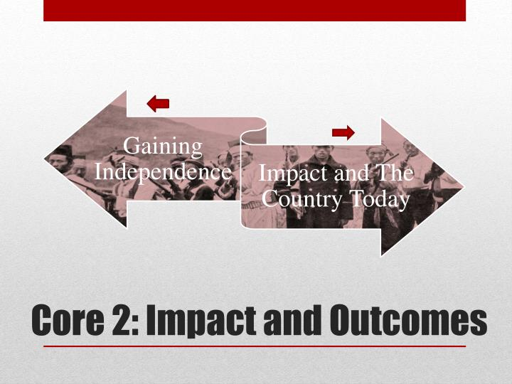 Core 2 impact and outcomes