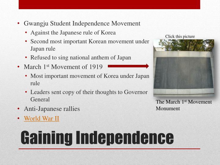 Gwangju Student Independence Movement