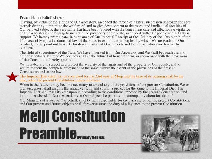 Preamble [or Edict) (